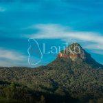 The sacred Sri Pada mountain. Adam's peak in Sri Lanka