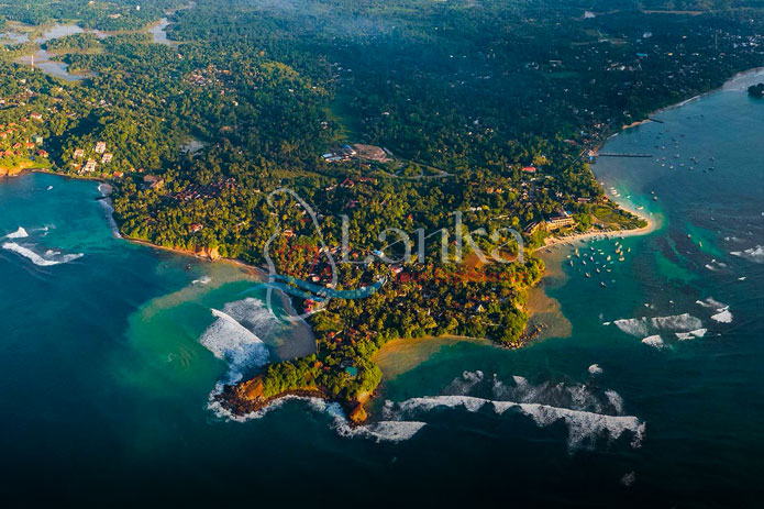 Aerial view Weligama