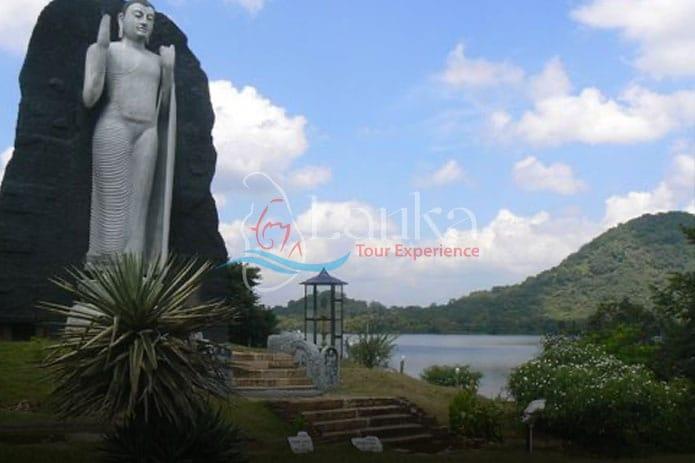 Buddha statue at Giritale Lake