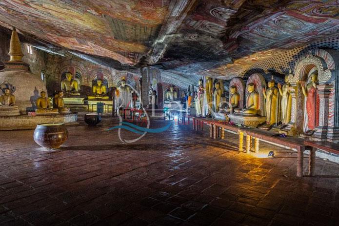 Interior of Dambulla Golden Temple